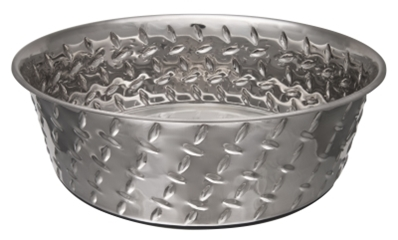 Ruff N' Tuff Diamond Plate Bowl, 2 quarts