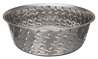 Ruff N' Tuff Diamond Plate Bowl, 5 quarts