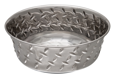 Ruff N' Tuff Diamond Plate Bowl, 1 quart
