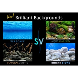 SeaView Brilliant Backgrounds Aqua Garden & Bright Stone, Double Sided
