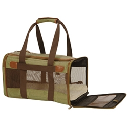 Sherpa Original Deluxe Carrier Olive & Brown, Medium
