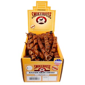 Smokehouse Bacon Skin Twists Small, 60 ct