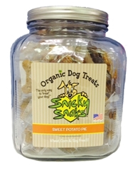 Snicky Snaks Organic Dog Treat Jar, Sweet Potato Pie, 16 oz
