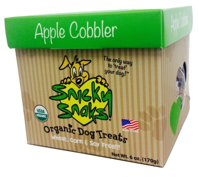 Snicky Snaks Organic Dog Treats, Apple Cobbler, 6 oz