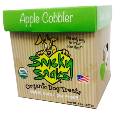 Snicky Snaks Organic Dog Treats, Apple Cobbler, 8 oz