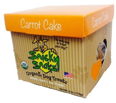 Snicky Snaks Organic Dog Treats, Carrot Cake, 6 oz