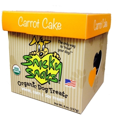 Snicky Snaks Organic Dog Treats, Carrot Cake, 8 oz