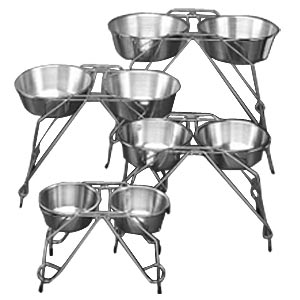 "Stainless Steel Double-Diner 18"", 5 qt"