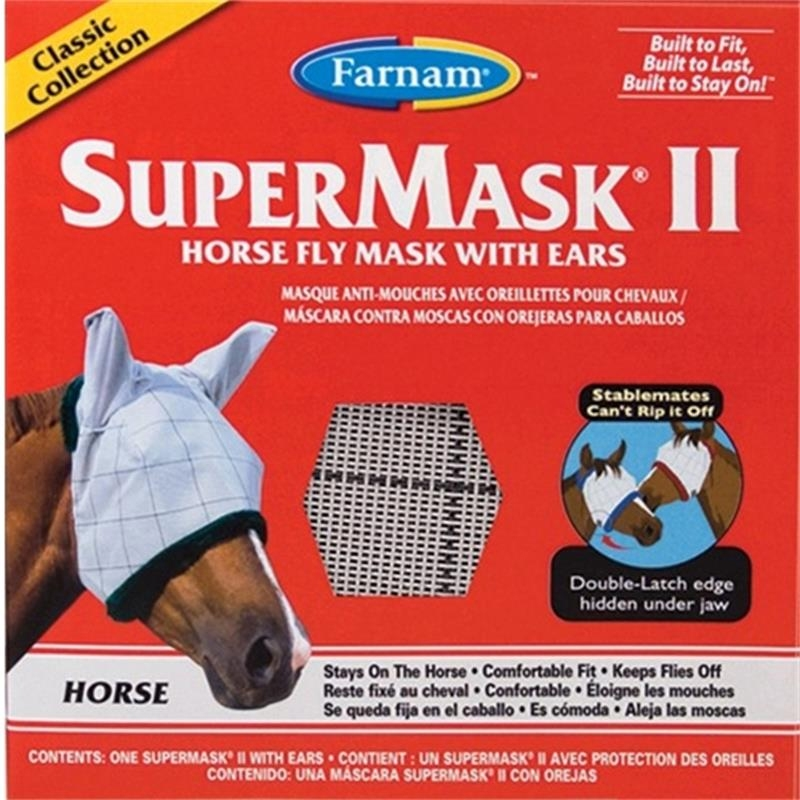 Super Mask with Ears for Horses, Size-Adult Horse