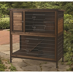 "Super Pet Rabbit Hutch 2-Story, 48"" x 24.25"" x 50.5"""