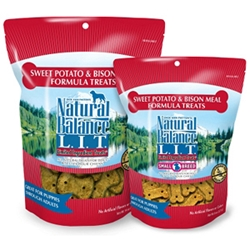 Sweet Potato & Bison Formula Dog Treats, 8 oz - 12 Pack