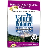 Sweet Potato & Venison Formula Dog Food, 15 lb