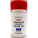Terbutaline Sulfate 5 mg, 60 Tablets