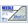 "Terumo Needles 22 gauge x 1-1/2"" (Ultra-Thin Wall) - 100 Pack"