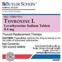 Thyroxine L Tablets, 180 ct, 0.4 mg