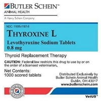 Thyroxine L Tablets, 180 ct, 0.8 mg