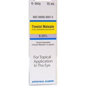 Timolol Ophthalmic Solution  0.25%, 10 ml