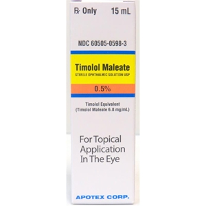 Timolol Ophthalmic Solution  0.5%, 15 ml