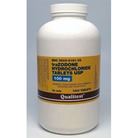 Trazodone 100 mg 1 tablet Trazodone, 100 mg 1 tablet