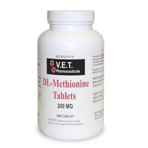 V.E.T. Pharmaceuticals DL-Methionine 200 mg, 1000 Tablets