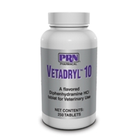 Vetadryl 10 mg, 250 Chewable Tablets | VetDepot.com
