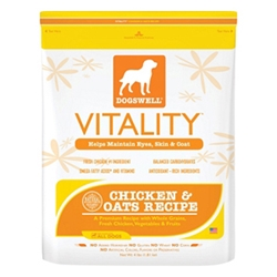 Vitality Chicken & Oats Dog Food, 4 lb - 6 Pack