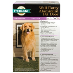 Wall Entry Aluminum Pet Door, Large