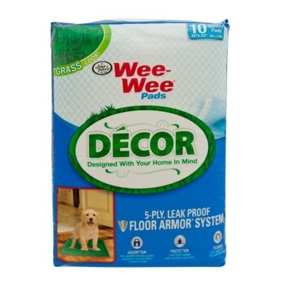 Wee Wee Decor Pads, Grass, 10 ct