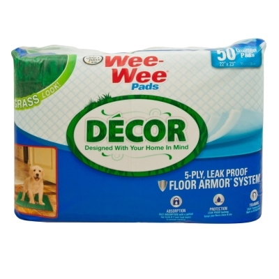Wee Wee Decor Pads, Grass, 50 ct