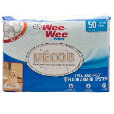 Wee Wee Decor Pads, Tile, 50 ct
