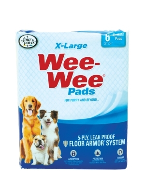 Wee Wee Pads Extra Large, 6 ct