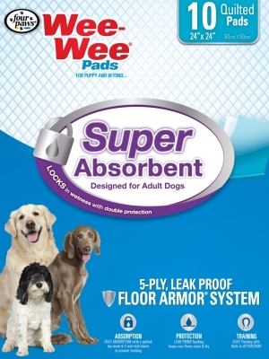 Wee Wee Super Absorbent Pads, 10 ct
