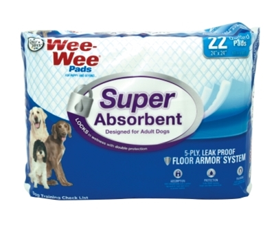 Wee Wee Super Absorbent Pads, 22 ct