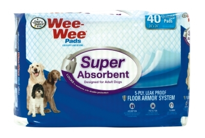 Wee Wee Super Absorbent Pads, 40 ct