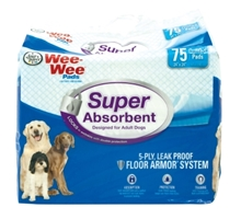 Wee Wee Super Absorbent Pads, 75 ct