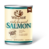 Wellness 95% Salmon Dog Food, 13.2 oz - 12 Pack