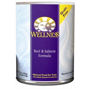 Wellness Complete Health Cat Food Beef & Salmon, 12.5 oz - 12 Pack