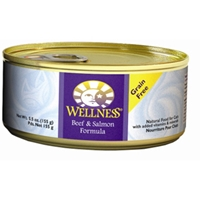 Wellness Complete Health Cat Food Beef & Salmon, 5.5 oz - 24 Pack