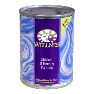 Wellness Complete Health Cat Food Chicken & Herring, 12.5 oz - 12 Pack