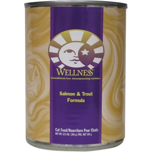 Wellness Complete Health Cat Food Salmon & Trout, 12.5 oz - 12 Pack