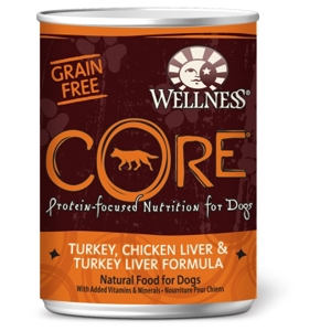 Wellness Core Dog Food Chicken, Turkey & Liver, 12.5 oz - 12 Pack