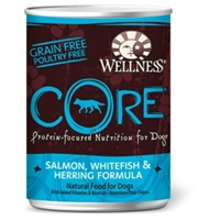 Wellness Core Dog Food Salmon, Whitefish & Herring, 12.5 oz - 12 Pack