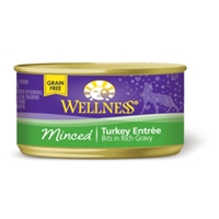 Wellness Minced Turkey Cat Food, 3 oz - 24 Pack
