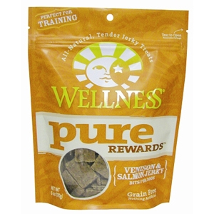 Wellness Pure Rewards Venison & Salmon Jerky, 6 oz