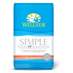 Wellness Simple Food Solutions Salmon & Rice Dog Food, 4.5 lb - 6 Pack
