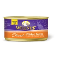 Wellness Sliced Chicken Cat Food, 3 oz - 24 Pack