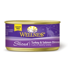 Wellness Sliced Turkey & Salmon Cat Food, 3 oz - 24 Pack