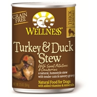Wellness Turkey & Duck Stew Dog Food, 12.5 oz - 12 Pack