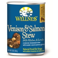 Wellness Venison & Salmon Stew Dog Food, 12.5 oz - 12 Pack