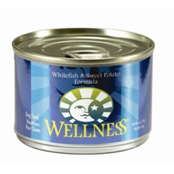 Wellness Whitefish & Sweet Potato Dog Food, 6 oz - 24 Pack